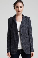 Theory Kaelika Checkered Jacket - Lyst