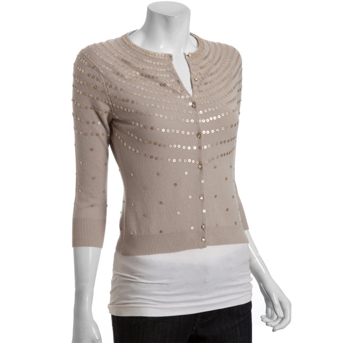 Autumn cashmere Sand Dollar Cashmere Sequined Cardigan Sweater in ...