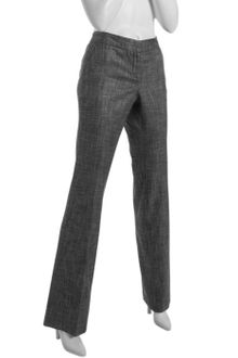 Cynthia Steffe Black and White Stretch Wool Blend Aja Bootcut Pants - Lyst