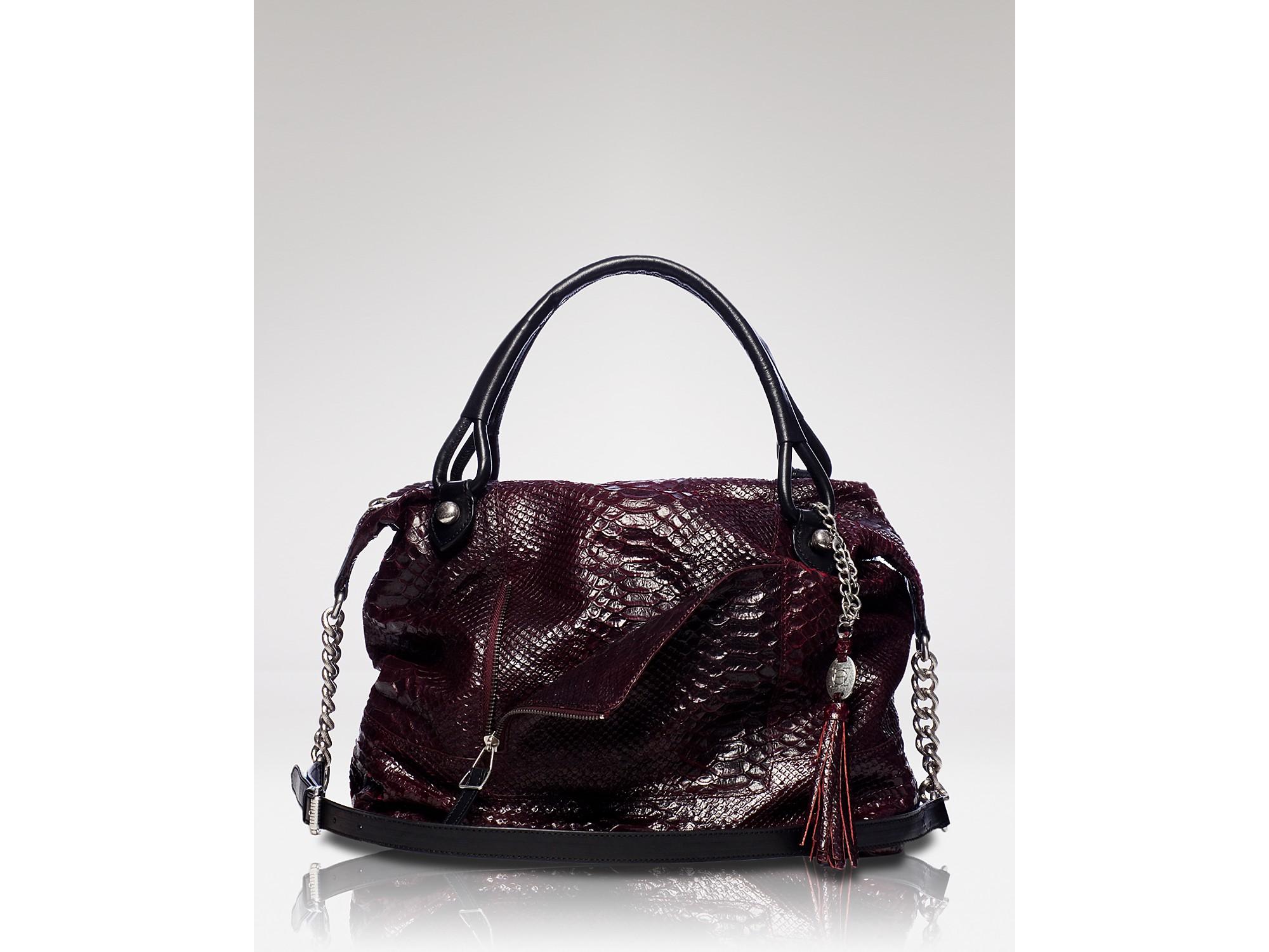 Olivia Harris Black Perforated Leather Hobo Bag Bluefly