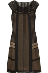 Philosophy di Alberta Ferretti Lace and Silk-chiffon Dress - Lyst