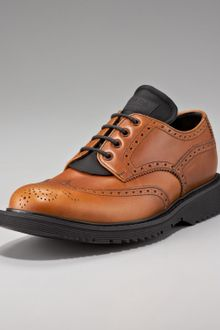 Prada Lace-up Wing-tip Oxford - Lyst