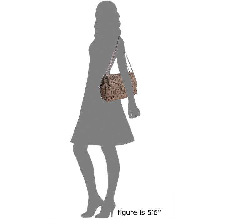 Prada Mink Ruched Lambskin Chain Strap Shoulder Bag in Brown ...