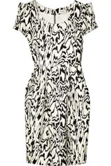 Temperley London Araya Printed Silk-satin Dress - Lyst