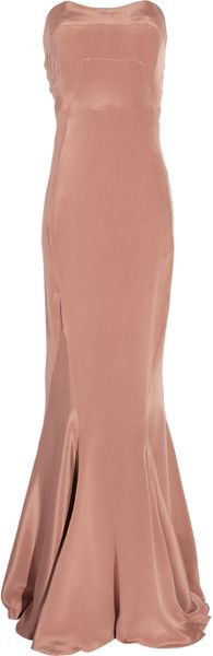 Winter Kate Glamour Strapless Silk Dress in Pink - Lyst