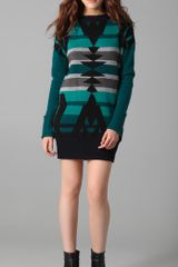 L.a.m.b. Intarsia Tunic Sweater Dress - Lyst
