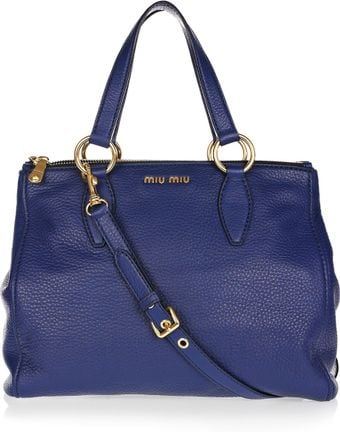Miu Miu Textured-leather Tote - Lyst