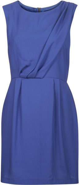 Topshop Tuck Shift Dress - Lyst