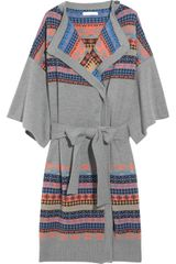 Matthew Williamson Merino Wool Wrap Cardigan - Lyst