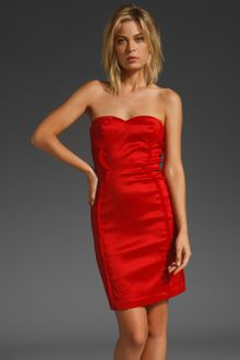 Z Spoke by Zac Posen Strapless Sheath Dress - Lyst