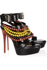 Burberry Prorsum Verulam Beaded Leather Sandals