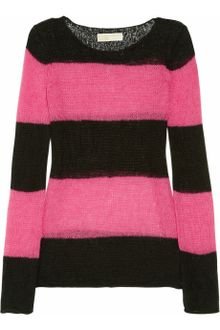 Michael by Michael Kors Striped Open-knit Sweater - Lyst