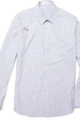 Alexander McQueen Striped Cotton Harness Shirt - Lyst