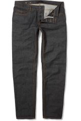 Burberry Prorsum Slim Fit Raw Denim Jeans - Lyst