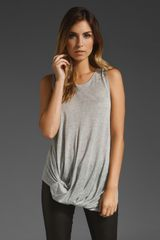Holy Tee Twisted Sister Knotted Hem Tank - Lyst