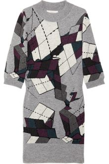 Pringle 1815 Abstract-intarsia Cashmere Dress - Lyst