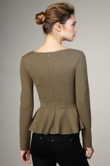 Stella McCartney Long-sleeve Peplum Top, Coriander - Lyst