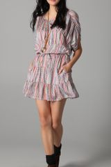 Tucker Panel Mini Dress - Lyst
