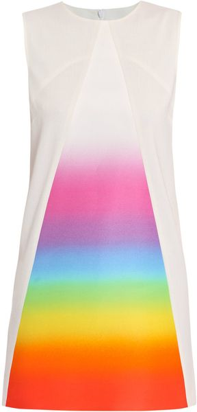 Christopher Kane Prism Dress in Multicolor (white) - Lyst