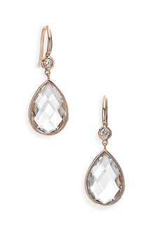 Ivanka Trump Mixed Cut Diamond & Rock Crystal Drop Earrings - Lyst