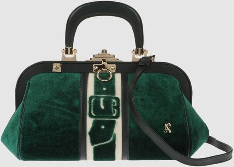 Roberta Di Camerino Large Fabric Bags in Green (emerald) - Lyst