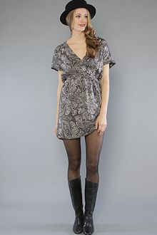 RVCA The Abbey Paisley Dress in Smoke - Lyst