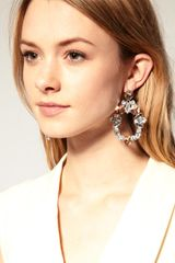 Asos Collection Asos Crystal Doorknocker Earring in Silver (crystal) - Lyst