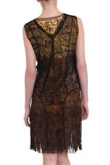 Bottega Veneta Stainedglass Print Dress in Yellow - Lyst