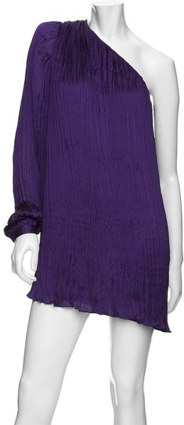 Exclusive For Intermix Preorder Exclusive One Shoulder Pleated Dress - Lyst