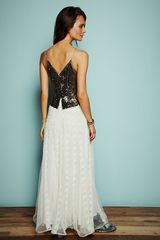 Free People Kristins Limited Edition Glamour Dress in Black (ivory combo) - Lyst