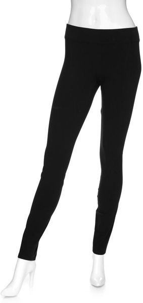 Helmut Lang Seamed Black Leggings in Black - Lyst
