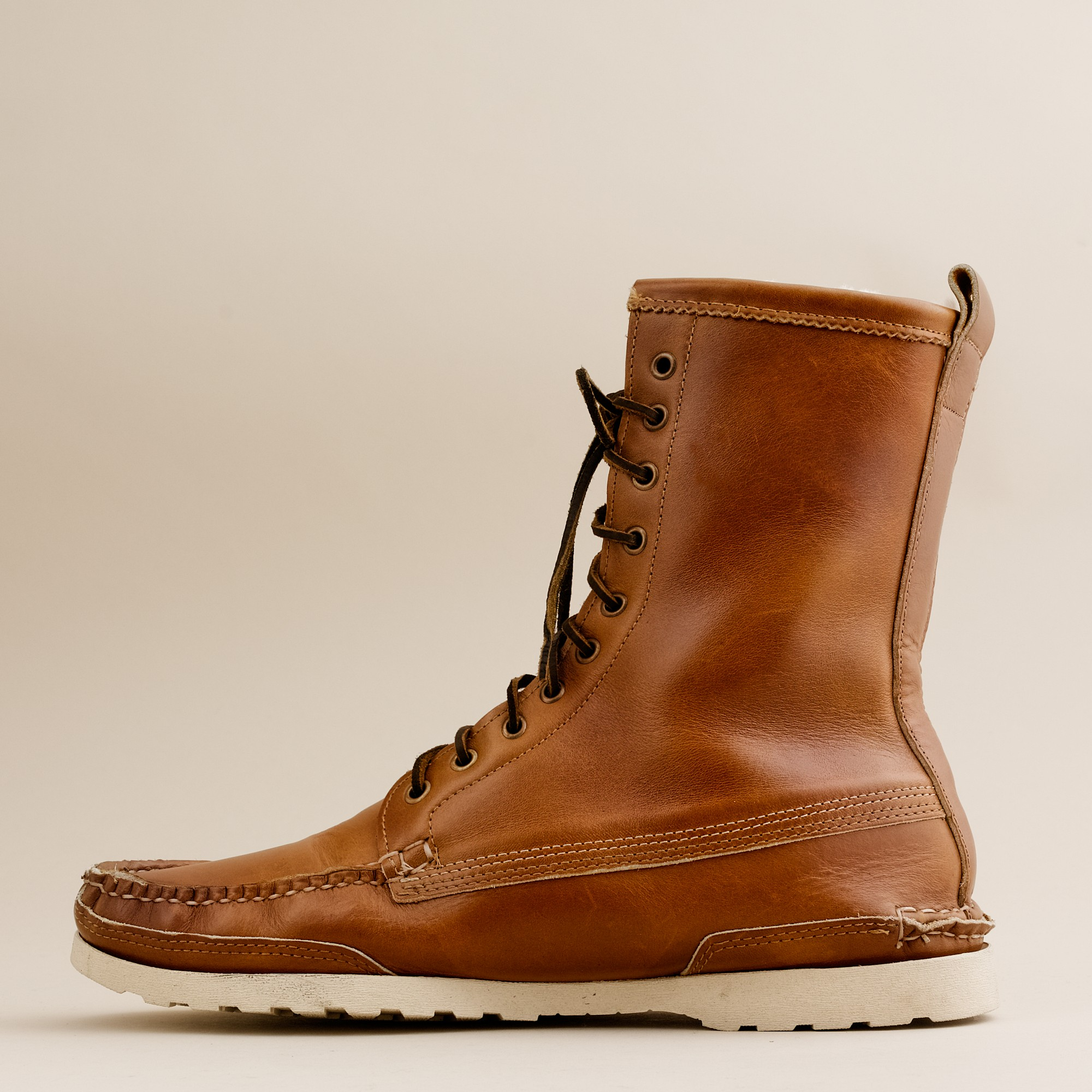 J Crew Mens Quoddy 174 Maine Woodsman Boots In Brown For Men