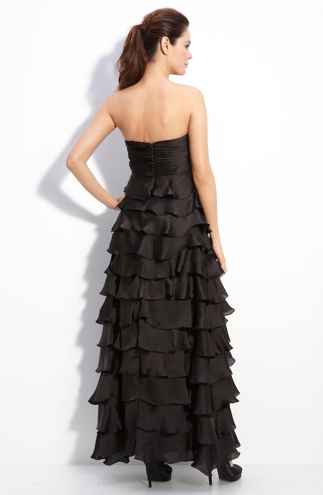 Turmec » js boutique strapless ruched chiffon dress