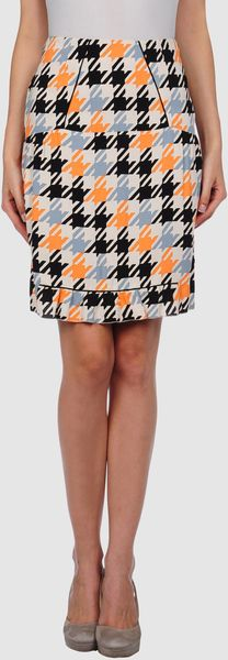 Marni Knee Length Skirts in Orange - Lyst