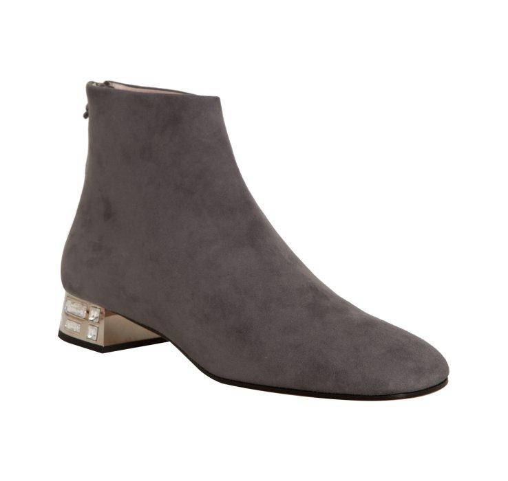 Miu Miu Grey Suede Ankle Boots L0JvaVoHk5