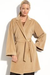 Nordstrom Collection Angora Blend Wrap Coat - Lyst