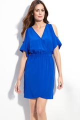 Presley Skye Roya Crêpe De Chine Surplice Dress - Lyst