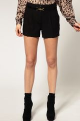 River Island  Smart Shorts in Black - Lyst