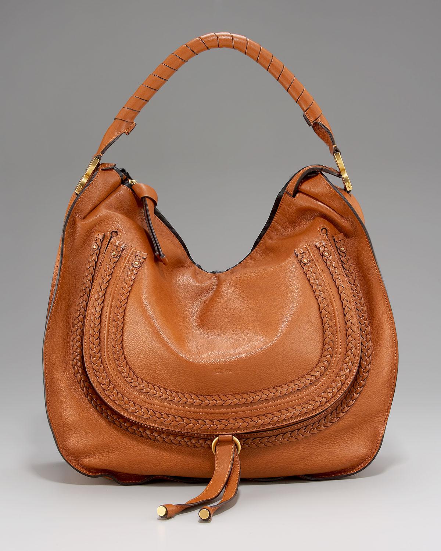 Chlo¨¦ Marcie Braided Hobo, Large in Brown (tan) | Lyst