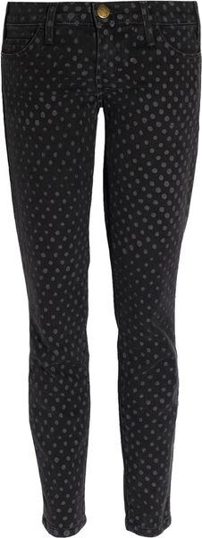 Current/Elliott The Stiletto Polka-dot Low-rise Jeans - Lyst