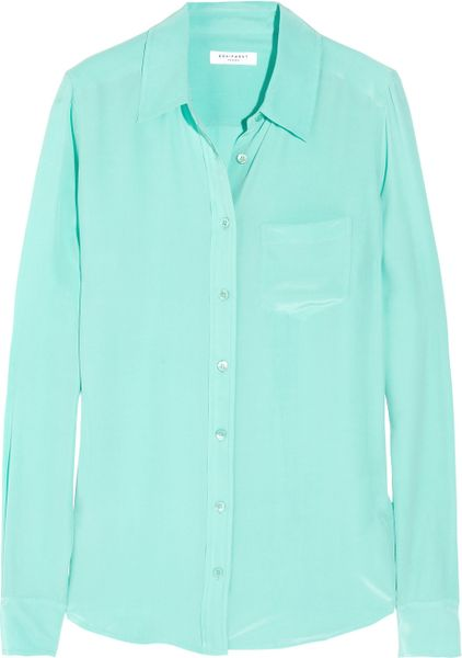 Equipment Signature Blouse Mint 88