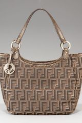 Fendi Zucca Canvas Shoulder Bag - Lyst