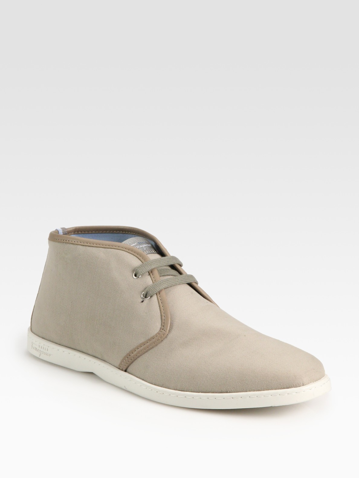 ferragamo mayorca canvas chukka boots in for