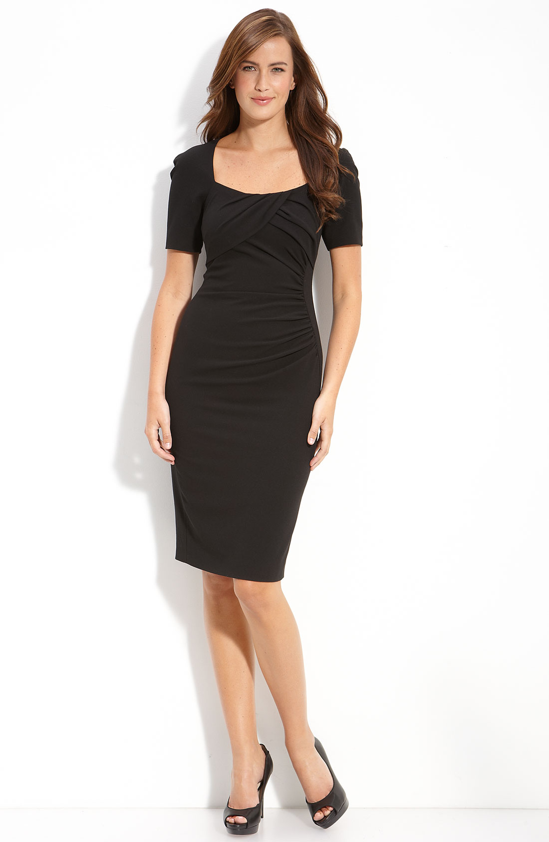 L K Bennett Tina Sheath Dress In Black Lyst