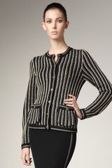 Marc By Marc Jacobs Striped Wool Jacket - Lyst