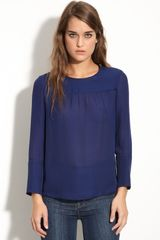 Marc By Marc Jacobs Marina Zip Detail Silk Top - Lyst