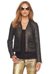 Michael by Michael Kors Frayed-edge Jacket - Lyst