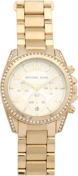 Michael Kors Gold Plated Watch in Gold