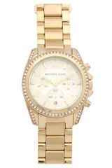 Michael Kors Gold Plated Watch in Gold - Lyst