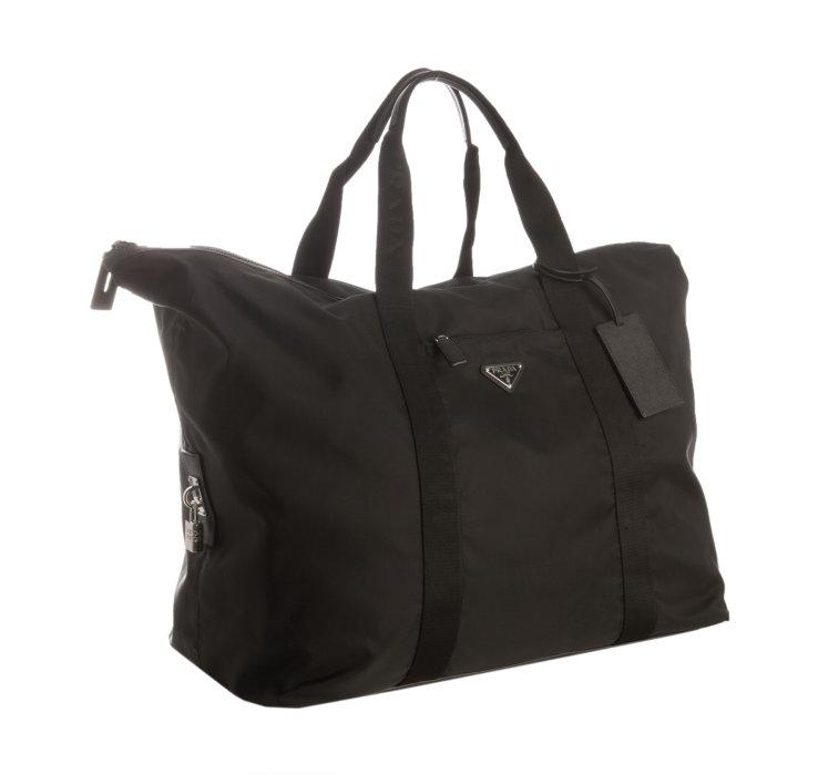 5979703f102d Prada Black Nylon Gabardine Weekender Travel Bag in Black for Men .